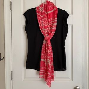 The Limited • Pink & Cream Scarf